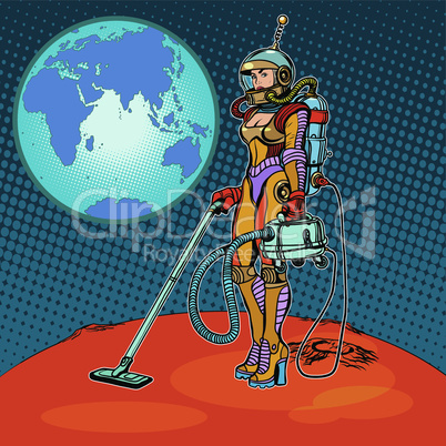 Girl cosmonaut cleaned of Mars