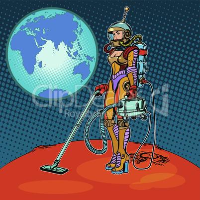 Girl cosmonaut cleaned of Mars