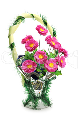 wreath of artificial flowers for funeral