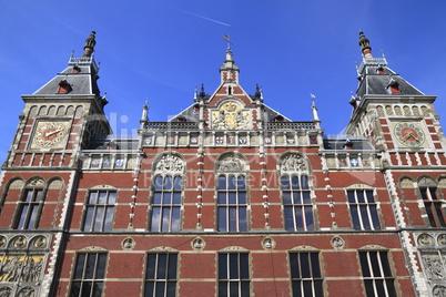 Facade of Amsterdam Centraal