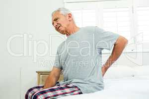 Senior man suffering from backache