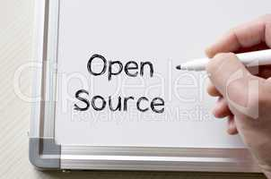 Open source written on whiteboard