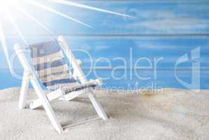 Sunny Summer Greeting Card With Deck Chair