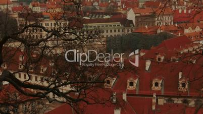 Close-up Tilting Shot of Prague Old Town