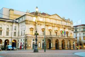 La Scaka opera house building in Milan, Italy