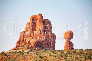 The Balanced Rock at the Arches National Park