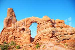 The Turret Arch at the Arches National Park