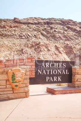 Entrance to the Arches National Park