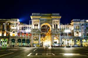 Galleria Vittorio Emanuele II shopping mall entrance in Milan, I