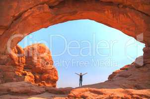 The North Window Arch at the Arches National Park
