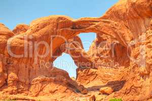 The Double Arch at the Arches National Park