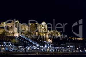 Buda Castle or Royal Palace in Budapest .