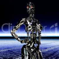 3D Illustration; 3D Rendering of a Cyborg