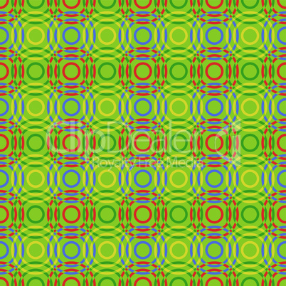 Seamless pattern with multicolour circles