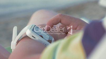 Smart Watch on Hand of Child