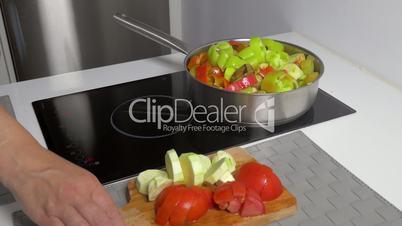 Cooking Stew Vegetables