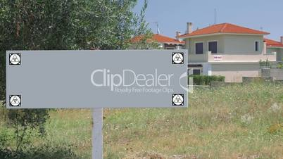 Blank sign of real estate advert