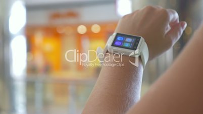 Smart Watch on the Wrist of User