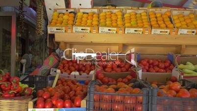 Market stall with fruit and vegetables