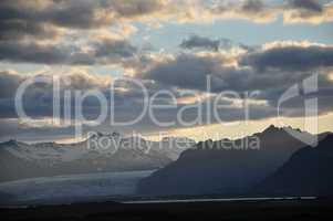 Abend an der Südküste von Island