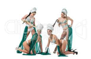 Image of beautiful female dancers from go-go group