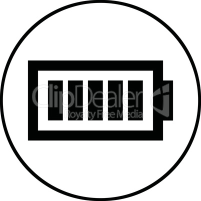 Battery level symbol - Vector icon isolated