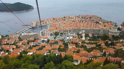 The view from the cable car cabins. Summer in Dubrovnik