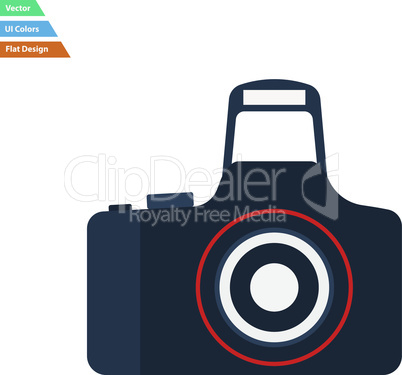 Flat design icon of Photo camera