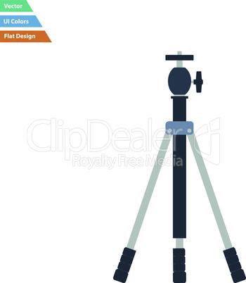 Flat design icon of photo tripod