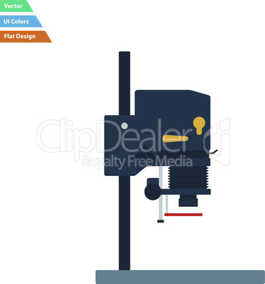 Flat design icon of photo enlarger