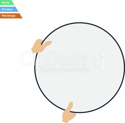 Flat design icon of hand holding photography reflector