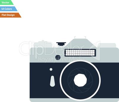 Flat design icon of retro photo camera