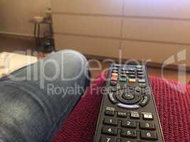 Remote control on a couch