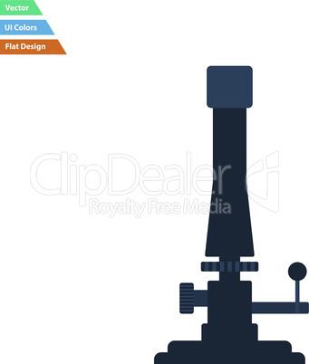 Flat design icon of chemistry burner