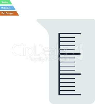 Flat design icon of chemistry beaker