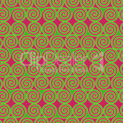 Seamless pattern with Triskele shapes