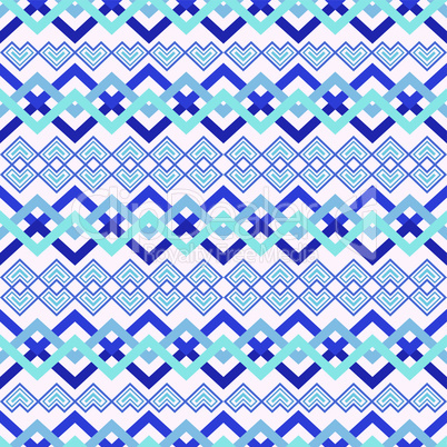 Zigzag seamless pattern in blue