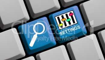 Online nach Settings suchen