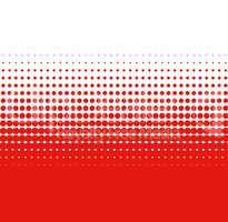 Übergang rot weiß aus Punkten