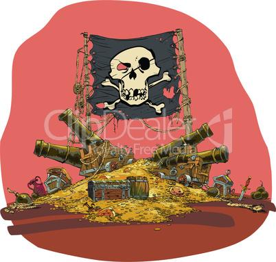 Pirate treasure vector illustration
