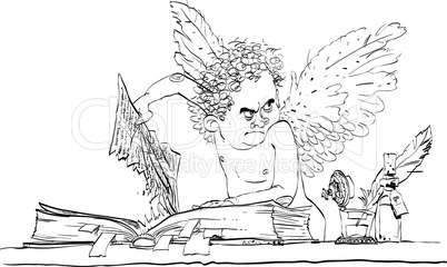 Angel bureaucrat pulls out a page from the book