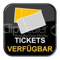 Schwarzer Button zeigt Tickets verfügbar