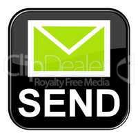 Schwarzer Button zeigt Send