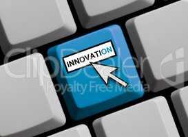 Tastatur zeigt Innovation