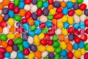 Backdrop from Multicolored Sweet Candy