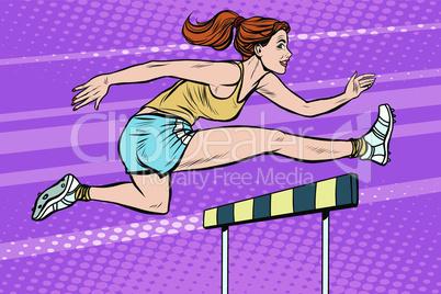 athletics steeplechase beautiful girl