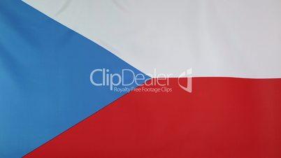 Closeup of national flag of Czech Republic