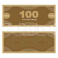 Play money. One Hundred