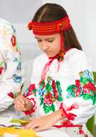 Girl in Ukrainian national cloth