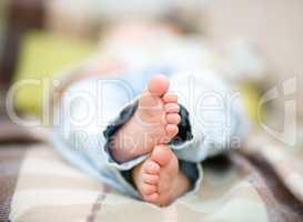 Closeup of a child feet